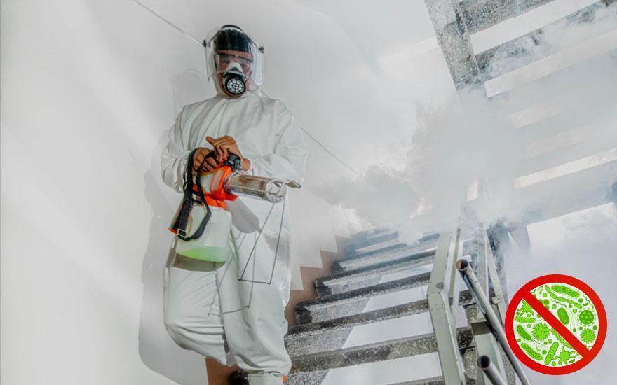 Zabieg dezynfekcji pomieszczenia